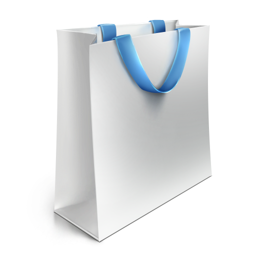 White Shopping Bag Png Shopping Bag Icon White Blue