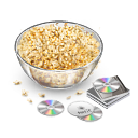 Popcorn cd disks icon