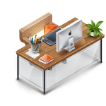 Work desk station icon